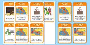empire timeline cards romans rome empire