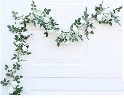white garland artificial wedding arch flowers white garland 180cm leaf