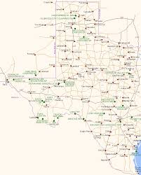 Texas national parks images Map of texas national parks and other scenic areas gif