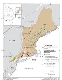 New England States Map by Usgs Nawqa Regional Assessments Of Principal Aquifers