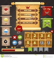 design games to download game interface design stock vector illustration of responsive