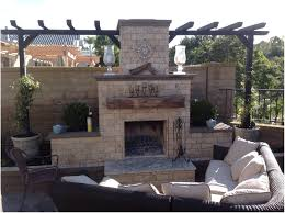 backyards gorgeous outdoor fireplace with pizza oven above 132