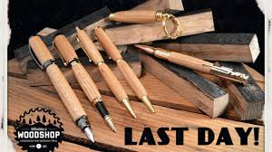 handcrafted wood pens created from reclaimed whiskey barrels by