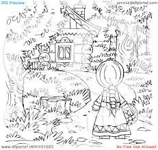 coloring little red riding hood coloring pages
