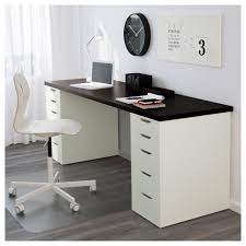 Stand Up Computer Desk Ikea by Alex Linnmon Table Black Brown White 200x60 Cm Ikea