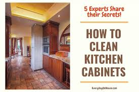 what is the best wood cleaner for cabinets 5 ways to clean wooden kitchen cabinets from the