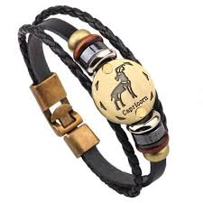 leather bracelet wristband images Twelve constellations bracelet bracelet fashion jewelry leather jpg