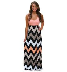 2015 new long maxi dress chevron curvy floor length dress best day