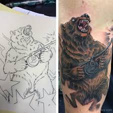 american traditional bear tattoo tattoo dove tattooic