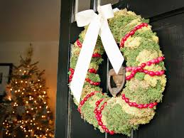 how to make a moss and cranberry holiday wreath hgtv