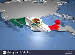 Mexico Country Map by Mexico Flag In The Shape Of The Country Map In A Modern Design