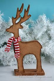 Wooden Deer Christmas Decorations by Free Christmas And Winter Wood Crafts