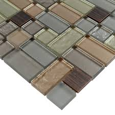 metal and glass tile backsplash hand painted aluminum tile crystal
