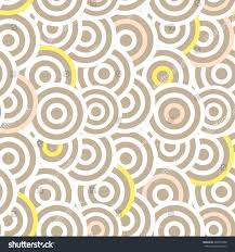 overlapping striped circles seamless vector pattern stock vector