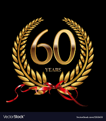 60 years anniversary 60 years anniversary laurel wreath royalty free vector image