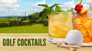 golf themed cocktails in celebration of the masters tournament