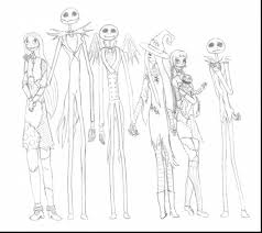 superb nightmare before christmas jack and sally drawings with