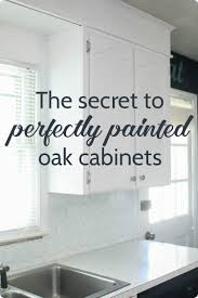 Painted Wooden Kitchen Cabinets Painting Oak Cabinets White An Amazing Transformation Lovely Etc