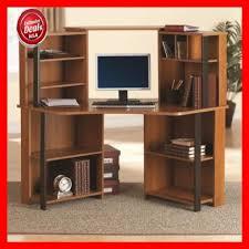 Laptop Corner Desk Corner Desk Hutch Office Computer Home Business Furniture Wood