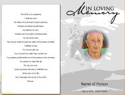 memorial program ideas awesome funeral program ideas templates best templates