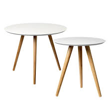 end table set of 2 bloomingville coffee table set of 2 white bamboo living and co
