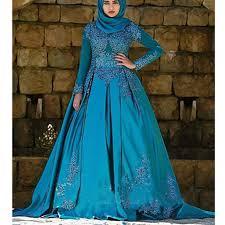 teal wedding dresses teal blue muslim gown wedding dress new bridal