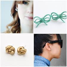 diy earring studs 20 diy stud earring tutorials mad in crafts