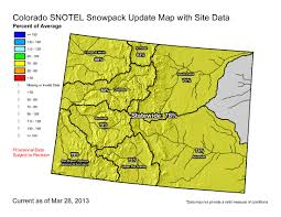 Colorado On A Map by Snowpack News Statewide Snowpack U003d 78 Of Avg Upper Colorado