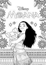 print moana disney coloring pages coloring pages adults