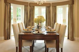 Floor To Ceiling Curtains Decorating Large Dining Room With Floor To Ceiling Drapes And Colonial Bar