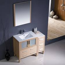 42 torino modern bathroom vanity light oak with cabinet living Modern Bathroom Vanity Lights
