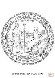 north carolina state seal coloring page free printable coloring