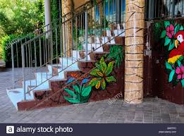 wall mexican mural stock photos wall mexican mural stock images colorful wall paintings decorate the front and stairway of a mexican cuisine restaurant at bricktown in