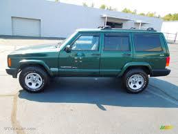 gunmetal jeep cherokee forest green pearl 1999 jeep cherokee sport 4x4 exterior photo