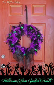 halloween glam spider wreath tutorial the tiptoe fairy
