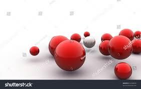 abstract 3d image metallic painted balls stock illustration