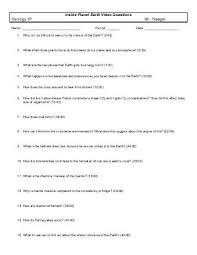 inside planet earth video questions key worksheets releaseboard