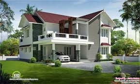 green homes designs beautiful sloping roof villa house design plans