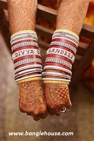 wedding chura with name wedding chura with personalised bangles this chura is much