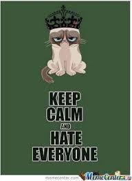 I Hate Everyone Meme - keep calm and hate everyone by kostasd3 meme center