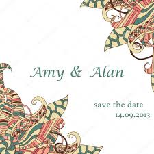 Invitation Card Designing Decorative Element Corners Abstract Invitation Card Template
