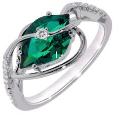 white emerald rings images Chatham cultured created emerald ring in 14kt white gold with jpg