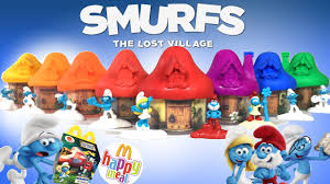 smurfs lost village happy meal toys mcdonalds 2017 complete