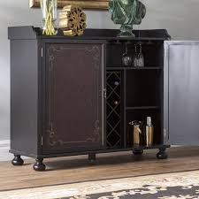 Metal Bar Cabinet Astoria Grand Two Tone Painted Bar Cabinet Reviews