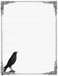 blank writing paper template sweetly scrapped free stationary with crows and roses variety scrap