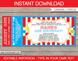 sports ticket invitation carnival ticket invitation template carnival or circus party
