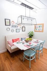 Dining Room With Bench Seating Best 25 Colorful Kitchen Tables Ideas On Pinterest Diy Dinning
