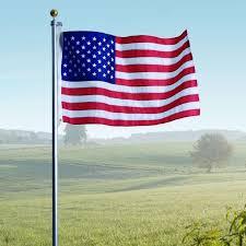 20 american flag pole set w 3 x5 american flag