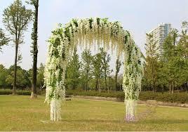 wedding arch garland gnw 7ft white artifical wedding arch in silk and hydrangea