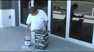 Cover Cracked Concrete Patio by Applying Concrete Floor Coating Granitex From Lowe U0027s Youtube